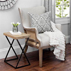Brooks Exposed Wood Back Accent Chair