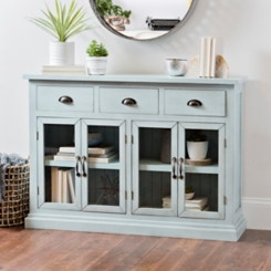 Distressed Light Blue Shiplap Chest