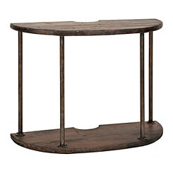Lilly Spool Demilune Console Table