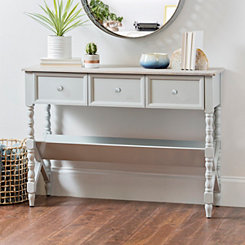 Sydney Gray Spool Leg Console Table