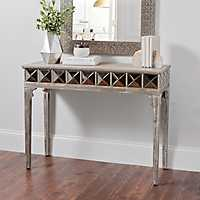 Kerri Rustic Mirrored Console Table