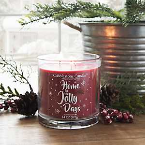 Home for the Jolly Days Jar Candle