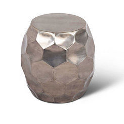 Round Nickel Accent Table
