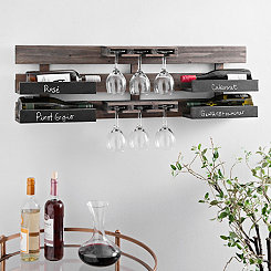 Chalkboard Wine Bottle and Glass Holder