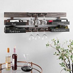 Chalkboard Wine Bottle and Glass Holder