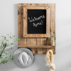 Multi-Functional Wood Frame Chalkboard with Hooks