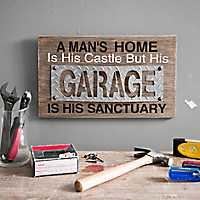 Garage Sanctuary Wood Wall Plaque
