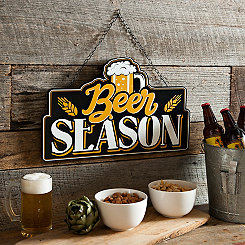 Beer Season Hanging Wall Plaque