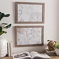 Sea Patterns Framed Art Prints, Set of 2