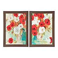 Vibrant Flower Bouquet Framed Art Prints, Set of 2