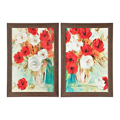 Vibrant Flower Bouquet Framed Art Prints, Set of 2