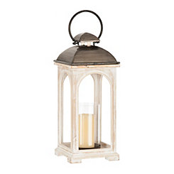 White and Gray Claire Lantern
