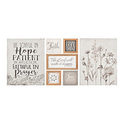 Neutral Floral 7-pc. Nesting Art Set