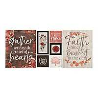 Grateful Hearts Red Floral 7-pc. Nesting Art Set