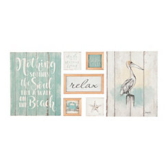 Watercolor Coastal 7-pc. Nesting Art Set