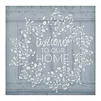 Welcome to Our Home Wreath Canvas Art Print