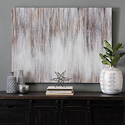 Metallic Luster Abstract Canvas Art Print