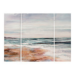 Island Seaside Waves Canvas Art Prints, Set of 3