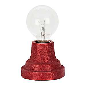 Red Glitter Edison Bulb Uplight