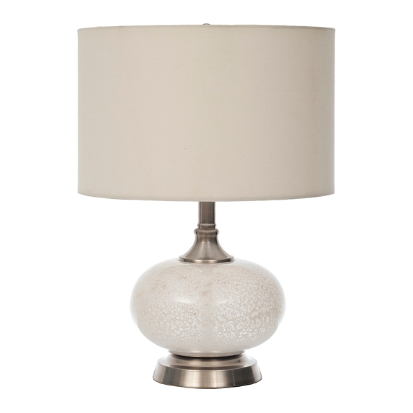 white sugar mercury glass table lamp