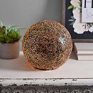 Mocha Mosaic Sphere Table Lamp