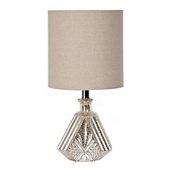 Diamond Ridge Mercury Glass Table Lamp