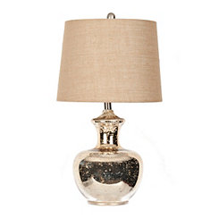 Rounded Gold Mercury Glass Table Lamp