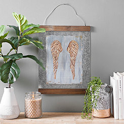 Printed Angel Wings on Metal Art Print