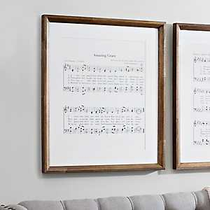 Amazing Grace Music Framed Art Print