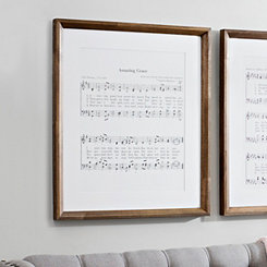 Amazing Grace Lyrics Framed Art Print