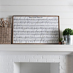 How Great Thou Art Lyrics Framed Art Print