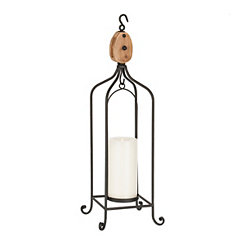 Metal Pulley Lantern, 26 in.