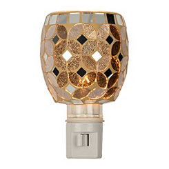 Silver and Bronze Mosaic Night Light
