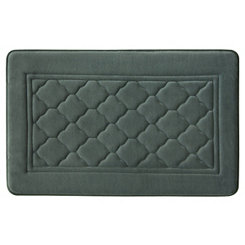 Gray Antimicrobial Memory Foam Bath Mat