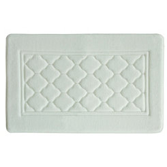 White Antimicrobial Memory Foam Bath Mat