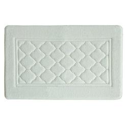 White Antimicrobial Memory Foam Bath Mat