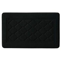 Black Antimicrobial Memory Foam Bath Mat