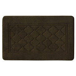 Brown Antimicrobial Memory Foam Bath Mat