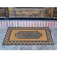 Welcome Tavern Basketweave Framed Koko Doormat