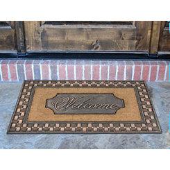 Welcome Tavern Basketweave Framed Koko Doormat