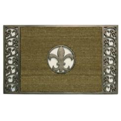 Fleur De Lis Copper Framed Koko Doormat