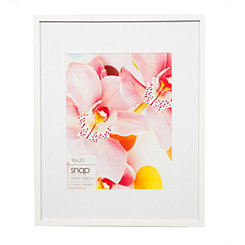 White Wood Matted Picture Frame, 16x20