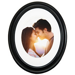 Black Oval Matted Picture Frame, 11x14