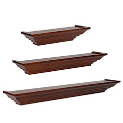 Walnut Level Line 3-pc. Ledge Shelf Set