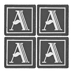 Slate Monogram Coasters