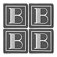 Slate Monogram B Coasters, Set of 4