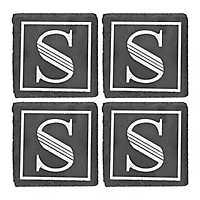 Slate Monogram S Coasters, Set of 4