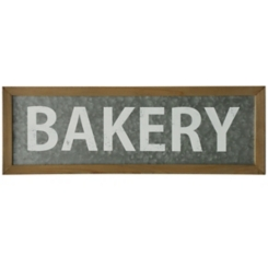 Galvanized Bakery Wall Plaque