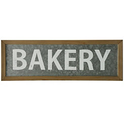 Galvanized Bakery Wall Plaque
