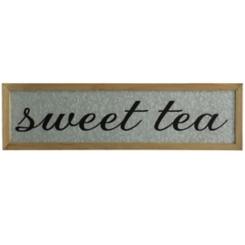 Galvanized Sweet Tea Wall Plaque